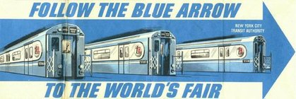 Follow the Blue Arrow to the World's Fair!